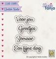 Nellie Snellen Clear Stamp Dutch Texts Voor Jou DTCS026