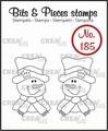 Crealies Clear Stamp Bits & Pieces Snowman CLBP185
