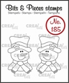 Crealies Clear Stamp Bits & Pieces Snowman CLBP185