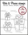 Crealies Clear Stamp Bits & Pieces Presents CLBP184