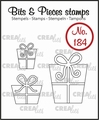 Crealies Clear Stamp Bits & Pieces Presents CLBP184
