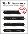 Crealies Clear Stamp Bits & Pieces Strips Set B  CLBP192