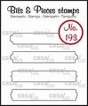 Crealies Clear Stamp Bits & Pieces Strips Set B  CLBP193