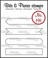 Crealies Clear Stamp Bits & Pieces Strips Set A  CLBP191
