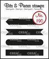 Crealies Clear Stamp Bits & Pieces Strips Set A  CLBP190