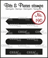 Crealies Clear Stamp Bits & Pieces Strips Set A  CLBP190