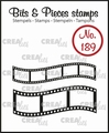 Crealies Clear Stamp Bits & Pieces Curved Filmstrips CLBP189