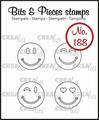 Crealies Clear Stamp Bits & Pieces Happy Faces CLBP188