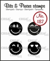 Crealies Clear Stamp Bits & Pieces Happy Faces CLBP187