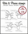 Crealies Clear Stamp Bits & Pieces Grass CLBP176