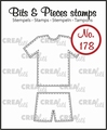 Crealies Clear Stamp Bits & Pieces Sport Outfit CLBP178