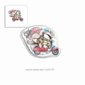 Polka Doodles Clear Stamp Horace & Boo Scooting Along PD7866
