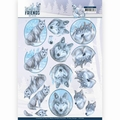 Amy Design knipvel Winter Friends - Winter Wolves CD11406