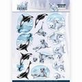 Amy Design knipvel Winter Friends - Sparkling SealifeCD11408