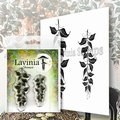Lavinia Clear Stamp Berry Leaves LAV577