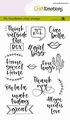 Craft Emotions Clear Stamp Handletter Quotes 130501/1817