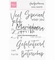 Marianne Design clear stamp Handgeschreven Van Harte CS1049