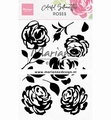 Marianne Design clear stamp Silhouette Roses CS1046