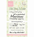 Marianne Design clear stamp Marleen's Hello Spring CS1044