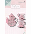 Joy Crafts Snijmal Vintage Tea Party 6002/1470