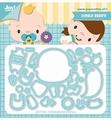 Joy Crafts Snijmal Jocelijne - Lachende Baby 6002/1450