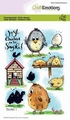 Craft Emotions Clear Stamp Chicken 1   130501/1666