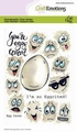 Craft Emotions Clear Stamp Egg Faces130501/1670