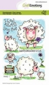 Craft Emotions Clear Stamp Sheep 1   130501/1673