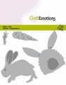 Craft Emotions Snijmal Rabbit with Carrot 115633/0435