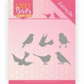 Jeanine's Art Snijmal Happy Birds -Vrolijke Vogels JAD10090