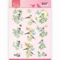 Jeanine's Art Knipvel Happy Birds Blauwe Dans CD11321