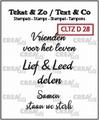Crealies Clear Stamp Tekst en zo Divers 28 CLTZD28