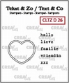 Crealies Clear Stamp Tekst en zo Divers 26 CLTZD26