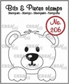 Crealies Clear Stamp Bits & Pieces Bear CLBP206