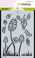 Craft Emotions Mask Stencil Paddestoelen 185070/0120