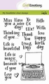 Craft Emotions Clear Stamp Typewriter Quotes 130501/1820