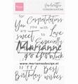 Marianne Design clear stamp Handwritten CongratulationCS1052