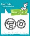 Lawn Fawn Snijmal Reveal Wheel Circle Sentiments LF2226