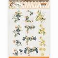 Precious Marieke knipvel Spring Delight Violets CD11434
