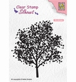 Nellie Snellen Silhouette Clear Stamp Tree SIL063