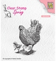 Nellie Snellen Clear Stamp Spring Mother Hen SPCS015