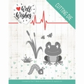 Jeanine's Art Snijmal Well Wishes Smiling Frog JAD10094