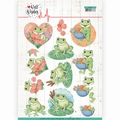 Jeanine's Art Knipvel Well Wishes Frogs CD11459