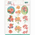 Jeanine's Art Knipvel Well Wishes Bunch of Flowers CD11461