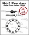 Crealies Clear Stamp Bits & Pieces Clock CLBP216