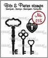 Crealies Clear Stamp Bits & Pieces Keys & Padlock CLBP215