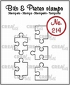 Crealies Clear Stamp Bits & Pieces Jig Saw Outline CLBP214