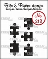 Crealies Clear Stamp Bits & Pieces Jig Saw Solid CLBP213