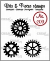 Crealies Clear Stamp Bits & Pieces Gears Solid CLBP209