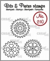 Crealies Clear Stamp Bits & Pieces Gears Outline CLBP210